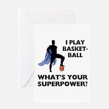 Basketball Superhero Greeting Card