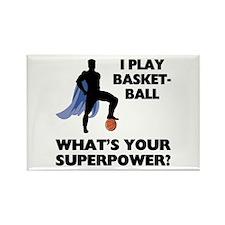 Basketball Superhero Rectangle Magnet