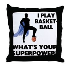 Basketball Superhero Throw Pillow