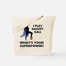 Basketball Superhero Tote Bag