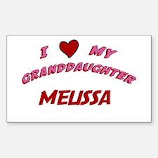 I Love My Granddaughter Melis Sticker (Rectangular