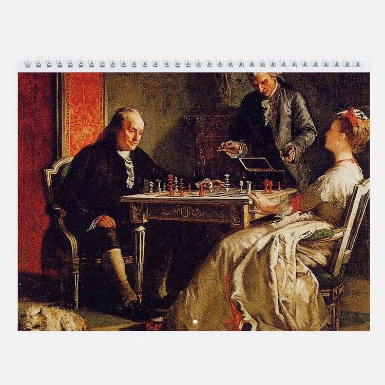 Great Chess Art Wall Calendar