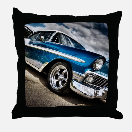 Retro car Throw Pillow