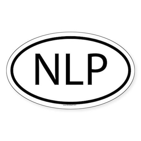 NLP Oval Sticker