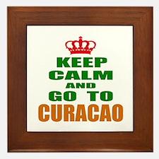 Keep calm and go to Curacao Framed Tile