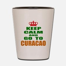 Keep calm and go to Curacao Shot Glass