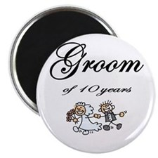 """Groom of 10 Years Anniversary Gifts 2.25"""" Magnet ("""