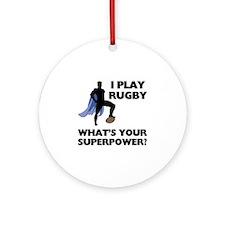 Rugby Superhero Ornament (Round)