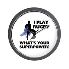 Rugby Superhero Wall Clock