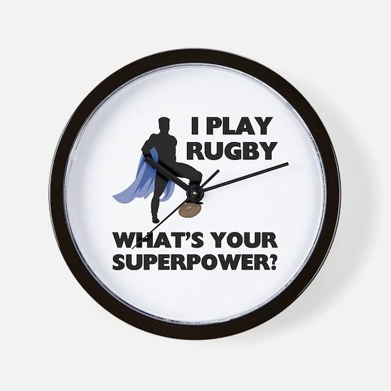 Rugby Superhero Wall Clock