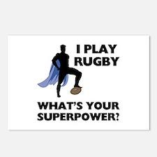 Rugby Superhero Postcards (Package of 8)