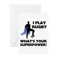 Rugby Superhero Greeting Card