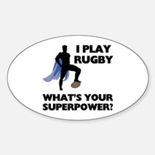 Rugby Superhero Oval Decal
