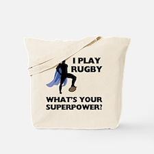 Rugby Superhero Tote Bag