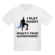 Rugby Superhero Kids Light T-Shirt