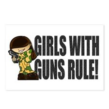Girls With Guns Rule Postcards (Package of 8)