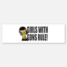 Girls With Guns Rule Bumper Bumper Sticker