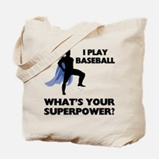 Baseball Superhero Tote Bag