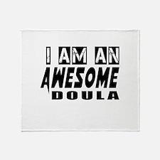 I Am Doula Throw Blanket