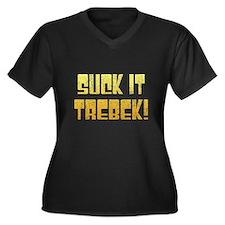 Suck it Trebek! Women's Plus Size V-Neck Dark T-Sh