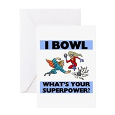 Bowling Superheroes Greeting Card