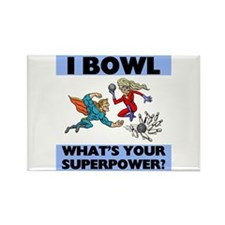 Bowling Superheroes Rectangle Magnet