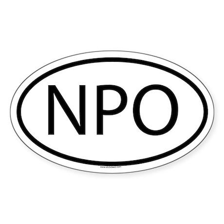 NPO Oval Sticker