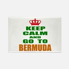 Keep calm and go to Bermuda Rectangle Magnet