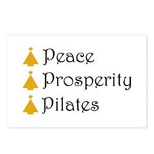Unique Pilates holiday Postcards (Package of 8)