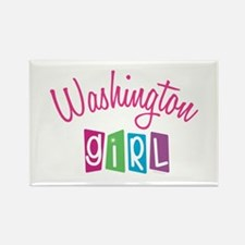 WASHINGTON GIRL! Rectangle Magnet (10 pack)