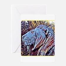 NY CARLSBERG GLYPTOTEK LION Greeting Cards