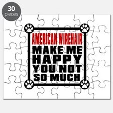 American Wirehair Cat Make Me Happy Puzzle