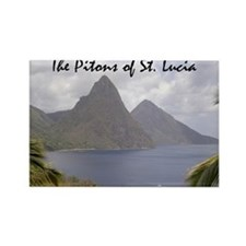 Pitons of St. Lucia Rectangle Magnet