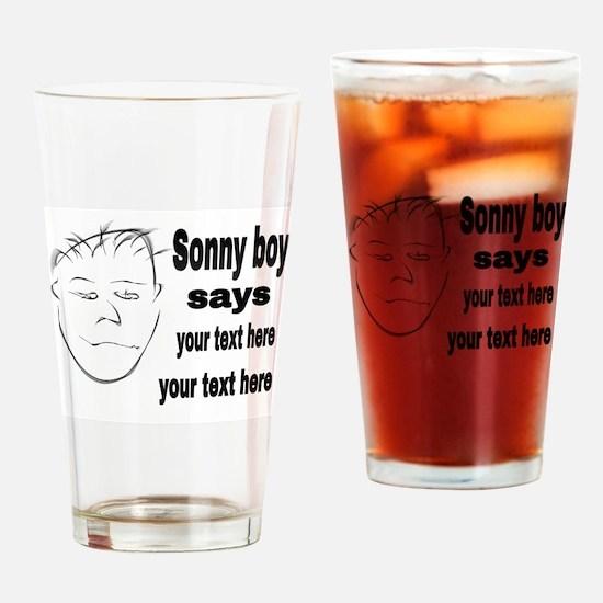 Sonny boy says Drinking Glass