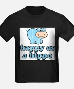Happy As A Hippo Ash Grey T-Shirt