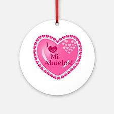 I Love My Abuelos Ornament (Round)