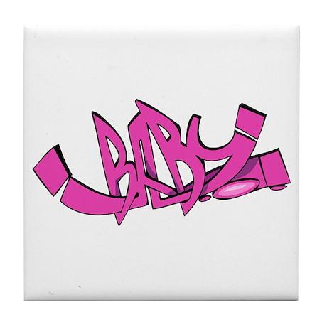 Graffiti - Baby Tile Coaster