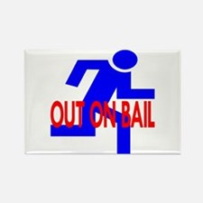 Out On Bail Rectangle Magnet