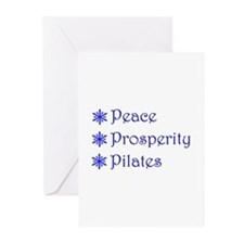 pppsnowflake blue Greeting Cards
