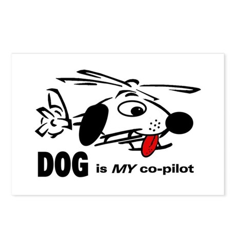 DOG is my co-pilot Postcards (Package of 8)