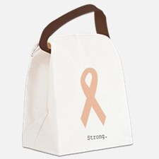 Peach. Strong Canvas Lunch Bag