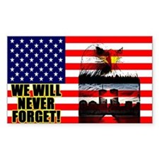 """We Will Never Forget!"" Decal"