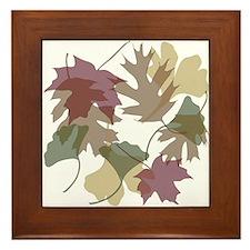 Falling Leaves Framed Tile