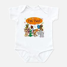 Party Animals 2nd Birthday Infant Bodysuit