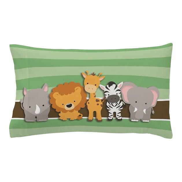 Safari Animals Pillow Case by ClipArtMEGAmart
