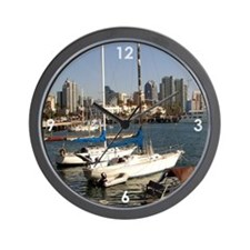 San Diego Sailboats in the City Wall Clock