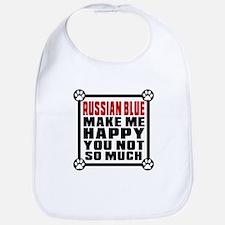 Russian Blue Cat Make Me Happy Bib