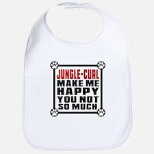 Jungle-curl Cat Make Me Happy Bib