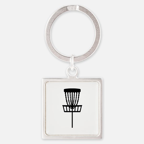 Disc golf Square Keychain