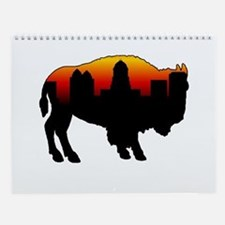 Cute Buffalo new york Wall Calendar